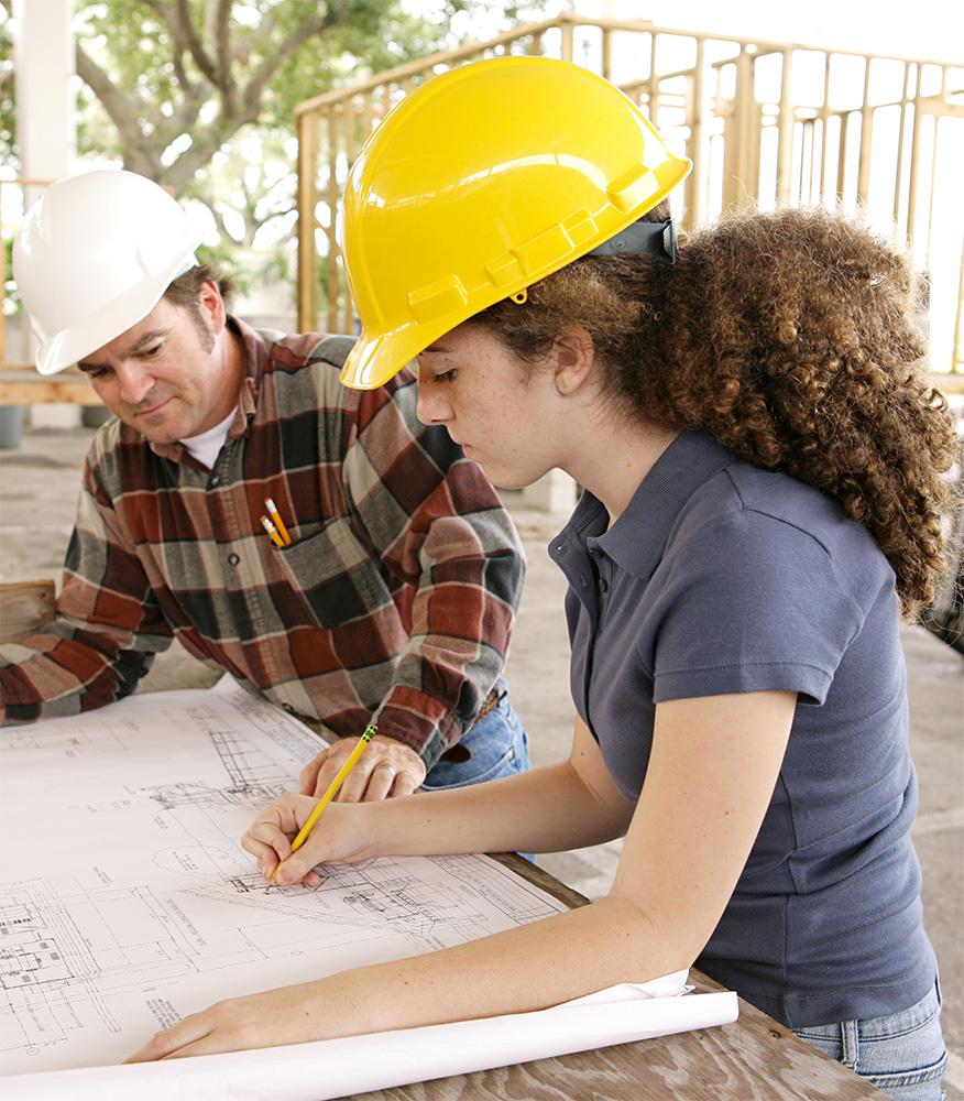 female-intern-construction